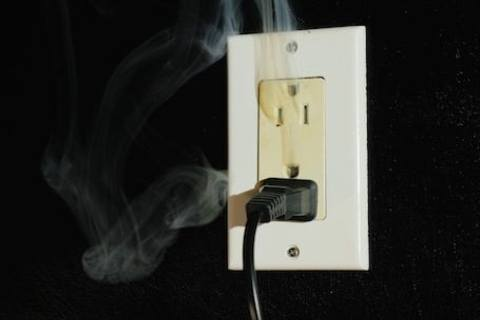 What do do in case of an electrical fire.