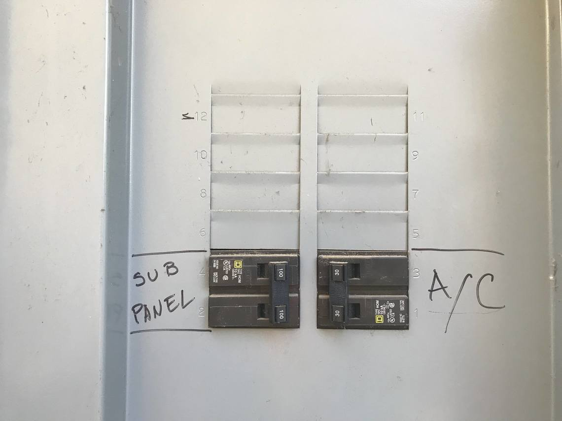 Main Service Panel Breakers